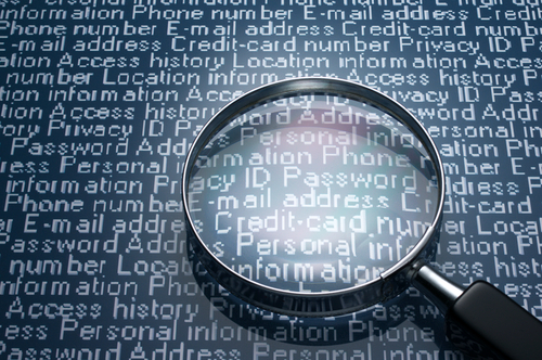 Sneaking a look at personal information