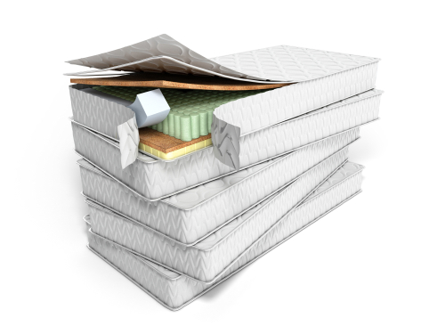 stack of mattresses 3d render on white background-img-blog